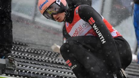 Bester DSV-Adler bei der Qualifikation in Klingenthal: Karl Geiger.