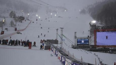 Am Samstag musste der Weltcup-Slalom abgesagt werden.