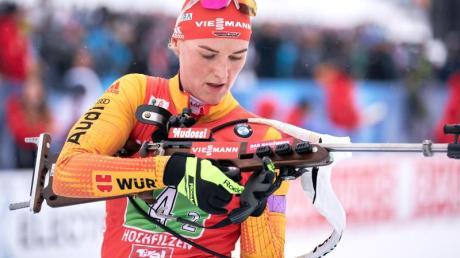 Deutsche Hoffnung beimHeimweltcup in Oberhof: Denise Herrmann.