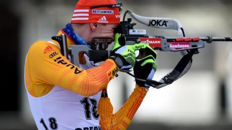 Johannes Kühn sprintete auf Platz drei.