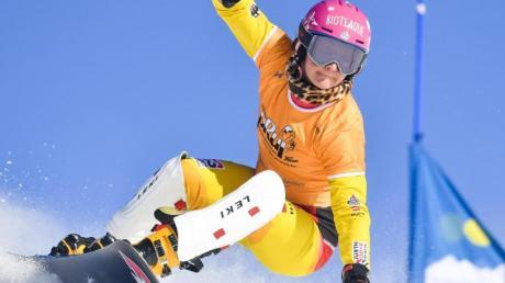 Snowboarderin Ramona Hofmeister kam im Parallel-Riesenslalom auf den zweiten Platz.