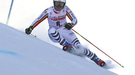 Viktoria Rebensburg kam beim Riesenslalom in Sestriere nicht über Platz sieben hinaus.