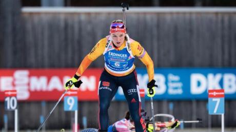 Heute Biathlon 2019/2020 - Ergebnisse und Gewinner: Gesamtstand am 19.01.2020. Denise Herrmann landete in der Verfolgung auf Platz sechs.