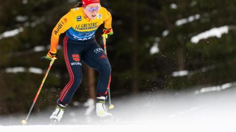 Lief auf Platz elf vor:Katharina Hennig.