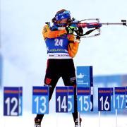 Heute Biathlon 2019/2020 - Der Gesamtstand am 25.01.2020. Franziska Preuß wurde zusammen mit Erik Lesser im Single-Mixed Elfte.