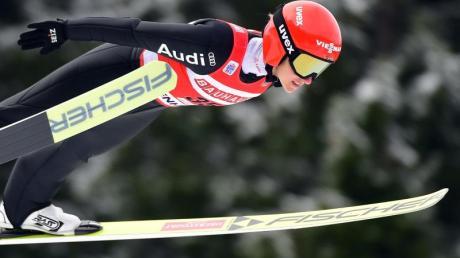 Katharina Althaus erreichte das beste Saisonresultat der deutschen Skispringerinnen.