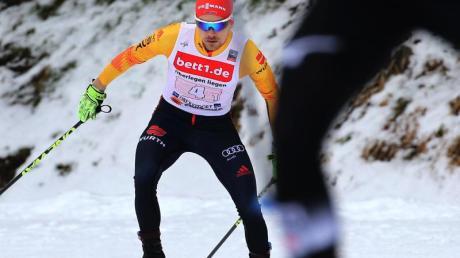 Kombinierer Fabian Riessle beim Langlauf.