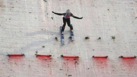 Juliane Seyfarth belegte am Sonntag beim Heim-Weltcup in Oberstdorf den fünften Platz.