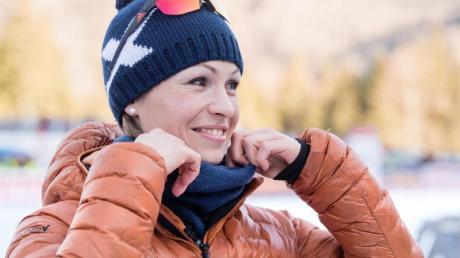 Ebenfalls im Homeoffice: TV-Experten und Rekordweltmeisterin Magdalena Neuner.