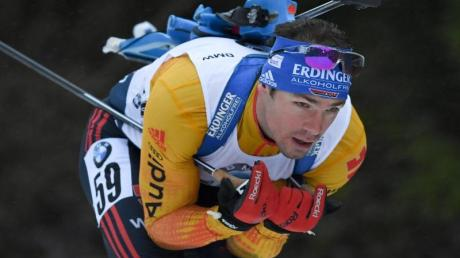 Biathlet Simon Schempp in Aktion.