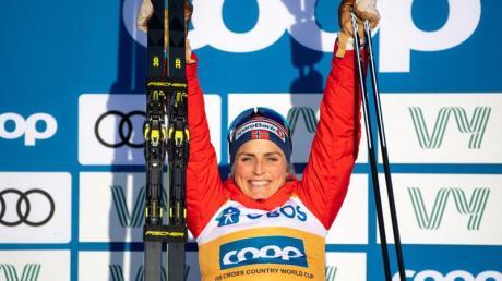 Therese Johaug siegte auch in Östersund.