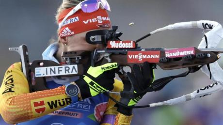 Sicherte Deutschlands Biathlon-Frauen Platz drei in der Staffel in Nove Mesto: Denise Herrmann.