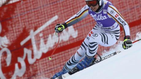 Die alpine Ski-WM in Cortina d'Ampezzo wird doch 2021 stattfinden: Viktoria Rebensburg in Aktion.
