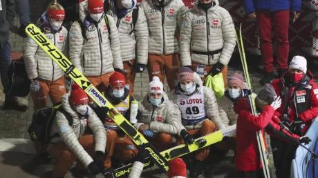 Das Team der deutschen Skispringer.