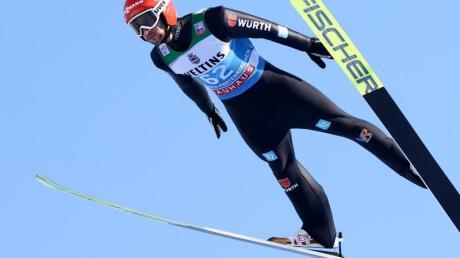 Markus Eisenbichler kam in der Qualifikation zum Neujahrsspringen auf den dritten Rang.
