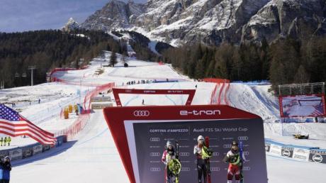 Auch die alpine Ski-WM in Cortina d'Ampezzo findet in diesem Jahr ohne Zuschauer statt.