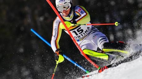 Linus Straßer verpatzte bei seinem ersten Slalom-Durchgang alle Chancen.