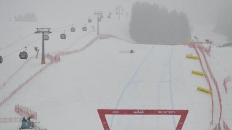 Die Abfahrt der Herren in Saalbach-Hinterglemm ist aufgrund schlechten Wetters abgebrochen worden.