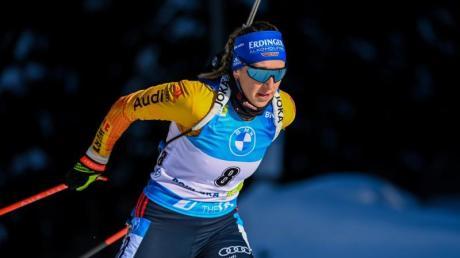 Franziska Preuß schaffte es zum dritten Mal in dieser Saison aufs Podium.