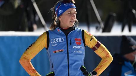 Ist auf Rang vier die beste Deutsche im Gesamtweltcup: Franziska Preuß.