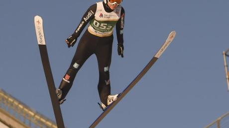 Wurde mit Deutschlands Skispringerinnen Dritte in Tschaikowski: Juliane Seyfarth.