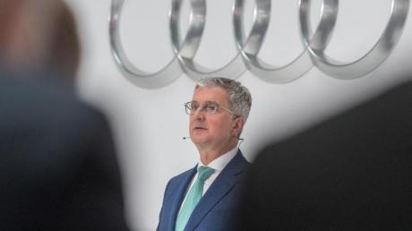 Rupert Stadler, damaliger Vorstandsvorsitzender des Fahrzeugherstellers Audi AG, während einer Bilanz-Pressekonferenz in Ingolstadt.