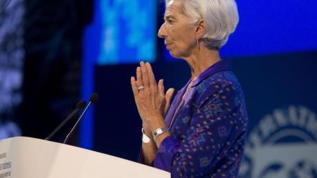 Das System des weltweiten Handels dürfe nicht zerstört werden, sagte IWF-Chefin Christine Lagarde zu Beginn des Treffens in Nusa Dua. Foto: Firdia Lisnawati/AP