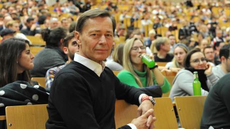 Thomas Middelhoff in der Frankfurter Uni: Der ehemalige Vorstandschef der Bertelsmann AG und des Karstadt-Quelle-Konzerns Arcandor sorgte für Milliardengewinne, dann stürzte er ab.