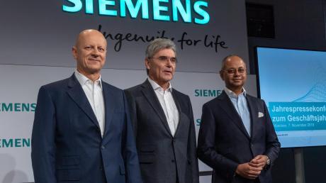 Die Siemens-Führung präsentierte gute Zahlen: Ralf Thomas, Joe Kaeser und Michael Sen (von links).