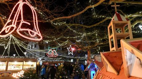 Der Märchenwald im Gersthofer Wintermärchen. Hier bekommen Sie die Infos rund um Termine und Öffnungszeiten des Weihnachtsmarktes, der noch bis Ende Dezember geht.