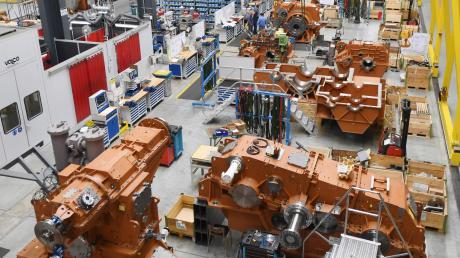 Ein Blick in die Hallen des Augsburger Maschinenbauers Renk.