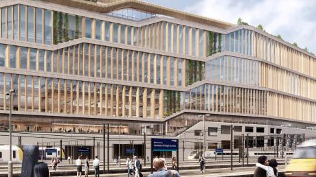 Direkt neben dem Londoner Bahnhof King's Cross baut sich Google eine neue Zentrale. Die Fassade dafür kommt aus der Region.