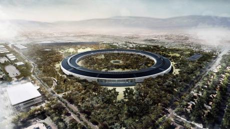 Eines der bekanntesten Projekte: die Apple-Zentrale in Cupertino.