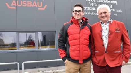 Haben für sich erkannt, dass es nicht schadet, sich Zeit für die Betriebsübergabe zu nehmen: Vater Alfred Bircks (65) mit seinem Sohn David (36), Geschäftsführer von DTB Donau-Trocken-Bau in Rennertshofen.