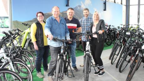 Das Team für die E-Bike-Mobilität in Neusäß.