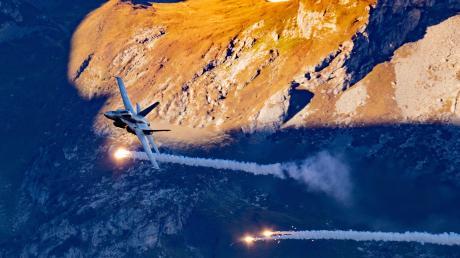 Der amerikanische Kampfjet F-18 gilt als Alternative kann auch Atombomben tragen. Er gilt als Alternative für die Bundeswehr.
