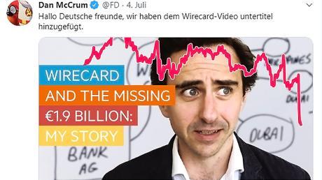 Investigativ-Journalist Dan McCrum beschäftigt sich bereits seit 2014 mit den Geschäftspraktiken des Aschheimer Zahlungsdienstleisters Wirecard.