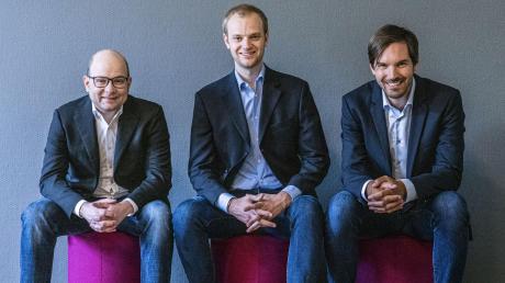 Gründeten vor neun Jahren ein Unternehmen, das inzwischen 1000 Mitarbeiter hat: Bastian Nominacher (links), Alexander Rinke (Mitte) und Martin Klenk von Celonis.