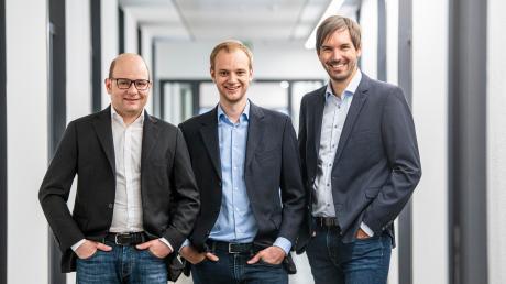 Bastian Nominacher, Alexander Rinke und Martin Klenk (von links) sind die Gründer von Celonis. Ihre Firma wächst rasant.