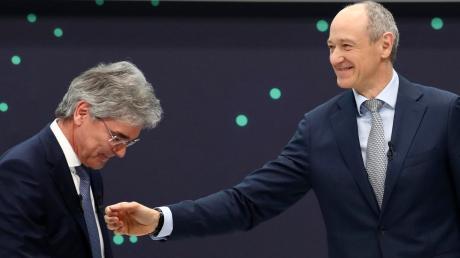 Joe Kaeser (links) geht, Roland Busch übernimmt bei Siemens.