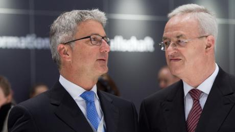 Die beiden früheren Top-Manager Rupert Stadler (links) und Martin Winterkorn haben sich mit VW auf einen Vergleich verständigt.