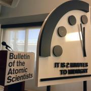 Zwei vor Zwölf: Die Weltuntergangsuhr des Bulletin of the Atomic Scientists ist im Januar 2018 zuletzt vorgestellt worden.