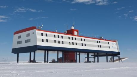 Die deutsche Forschungsstation Neumayer-Station III in der Antarktis.