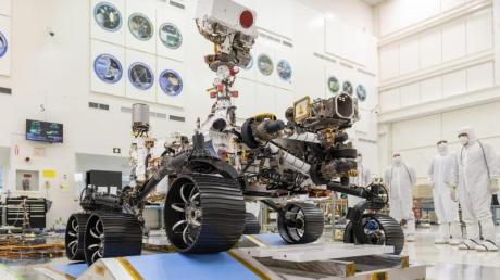 Mars 2020-Rover besteht erste Fahrprüfung.