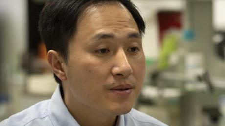 He Jiankui in seinem Labor in der südchinesischen Provinz Guangdong.