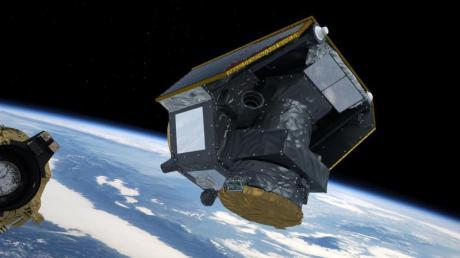 Eine grafische Darstellung zeigt Cheops, kurz nachdem sich der Satellit von der Trägerrakete gelöst haben soll.