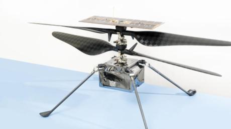 Der Mini-Hubschrauber, den die US-Raumfahrtbehörde im Sommer zum Mars schicken will.