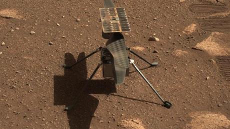Der Mini-Hubschrauber «Ingenuity» auf dem Mars.