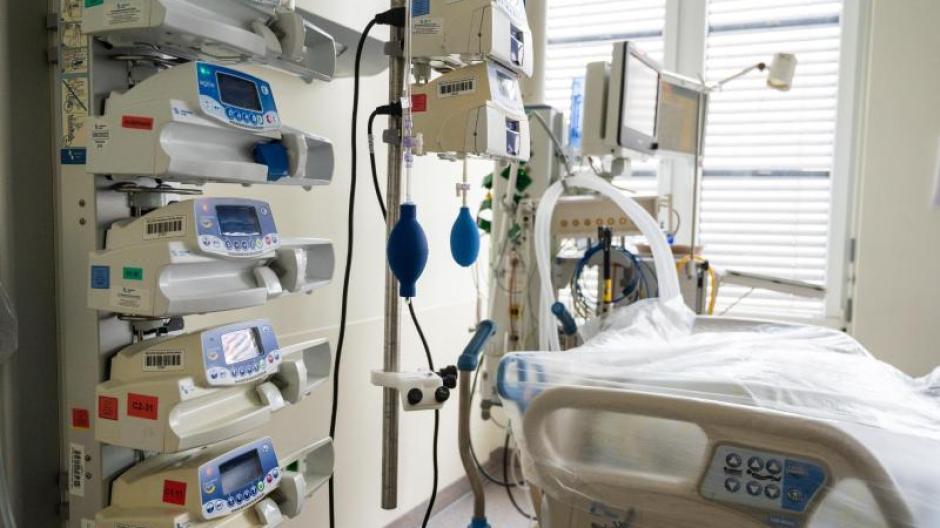 Eine Intensivstation für Coronapatienten mit schweren Krankheitsverläufen.
